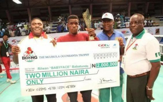 Meet Babatunde 'Babyface' who Won N2m in A Boxing Macth in Just 10 Minutes