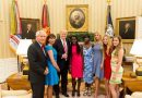 Two escaped Chibok schoolgirls meet President Donald Trump and Ivanka Trump at the White House